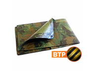 Bache de chantier Camouflage 150 g/m² - 3.6 x 5 m - bâches étanches - protection chantier