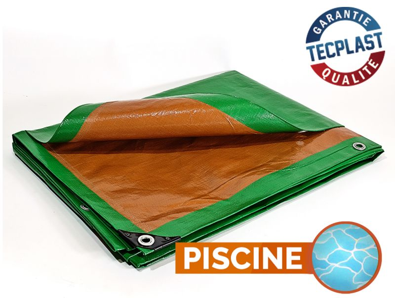 B che piscine 250 g m 2x3m protection multi usages for Bache etanche bassin